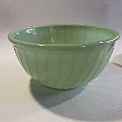 Vintage Anchor Hocking Green Fire King Ware Mixing  Bowl Made in U.S.A.
