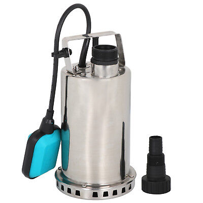 1HP Stainless Steel Submersible Sump Pump Dirty Clean Water Pump w/26ft Cable