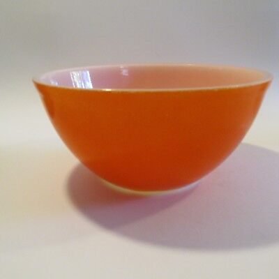 Vintage 1960s Orange and White Mixing Bowl Pyrex? marked 17 Mid Century Home