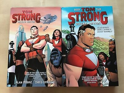 Tom Strong - Deluxe Hardcovers - Book 1 and 2 - Alan Moore