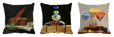 """On the Blocks-3PC Combo Printed Cushion Cover Sofa Home Décor Pillow Case 12,24"""""""