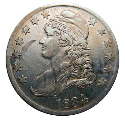 Capped bust half dollar 1834 large date/small letters collector coin