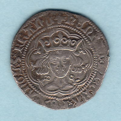 Great Britain. (1422-30) Henry VI - Groat..  Calais Mint, Annulet Issue..  VF