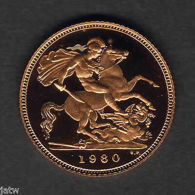 Great Britain. Gold - 1980 Half Sovereign.. Proof