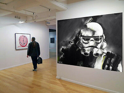 limited Street Art Star Wars Storm Trooper print canvas poster by Andy Baker