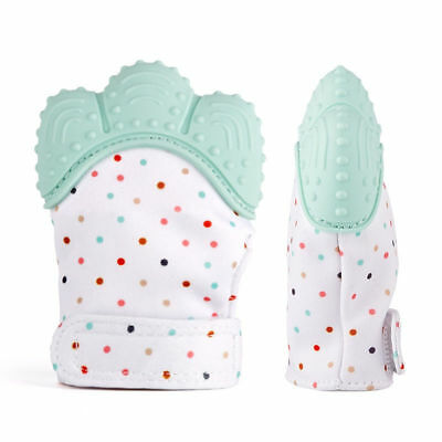 Silicone Baby Mitt Teething Glove Candy Wrapper Sound Teether