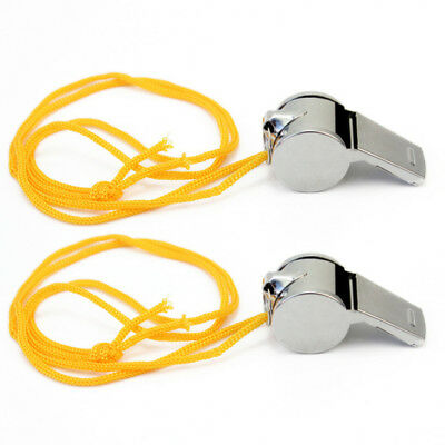 2 Pack Premium Metal Whistle Referee Whistle For Teacher /Football / Basketball