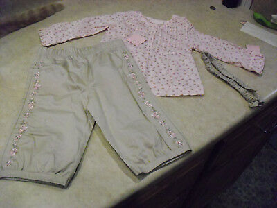 infant girl 2 piece outfit size 3-6 months new with tags.