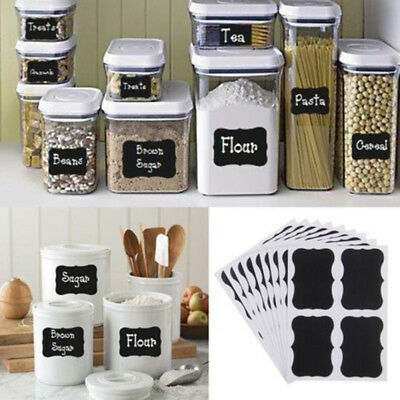 40pcs Blackboard DIY Bottle Stickers Black Kitchen Home Chalkboard Tags Labels