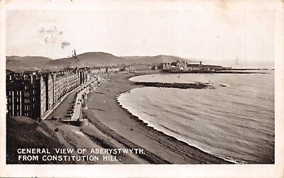 Aberystwyth Cardiganshire Uk~From Constitution Hill~Herbert Jones Postcard 1909