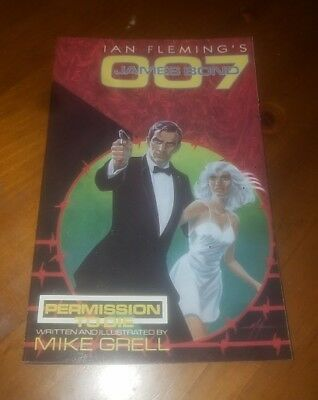 JAMES BOND 007: PERMISSION TO DIE # 2  by Mike Grell - Eclipse (1989) NM/Mint