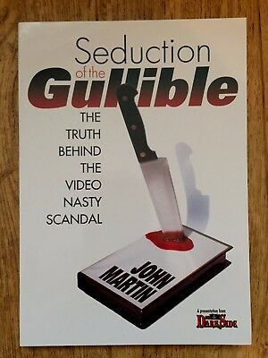 Seduction of the Gullible-John Martin / Rare out of print Paperback