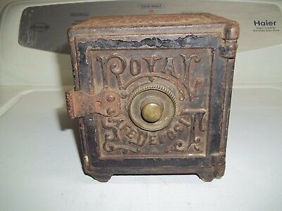 Antique Security Safe Deposit Safe Cast Iron Still Bank