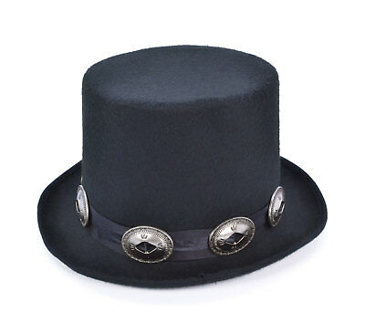 Slash Style Adults Rocker Black Top Hat Fancy Outfit Accessory