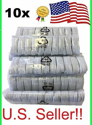 10 Pack USB Sync Charging Charger Cable Cord for Apple iPhone 5s se 8 plus 10 X