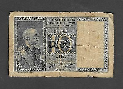 Italy 10 Lire 1935 Circulated Banknote