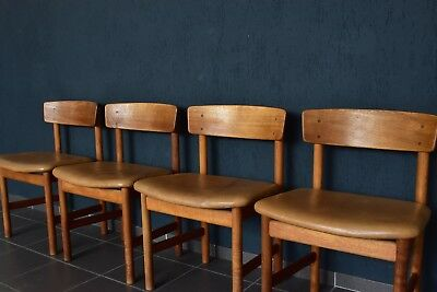 4x Børge Mogensen chair 3236 Eiche oak leather The People's Chair Fredericia