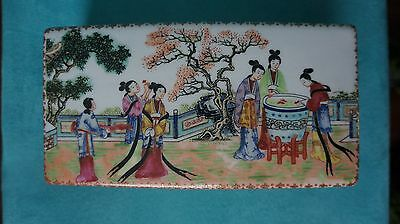 Antique Chinese  Large Covered Porcelain Box