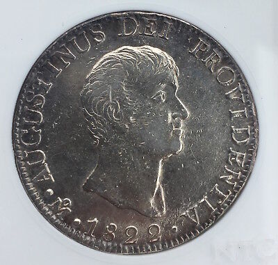 MEXICO EMPIRE OF ITURBIDE SILVER 8 REALES 1822 Mo J.M.