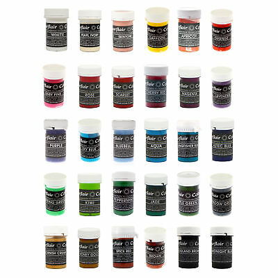 20 x Sugarflair Edible PASTEL Paste Concentrated Food Colour for Cup Cake Icing