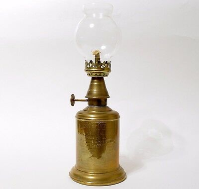 Vintage French Brass Pigeon Oil Lamp | Olympe | Vintners Lamp | Wick & Globe