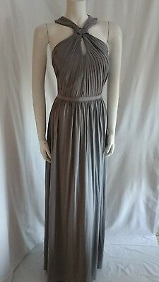 Coast Grey Maxi Evening Gown Dress Size 16 Eur 8850 Picclick Fr
