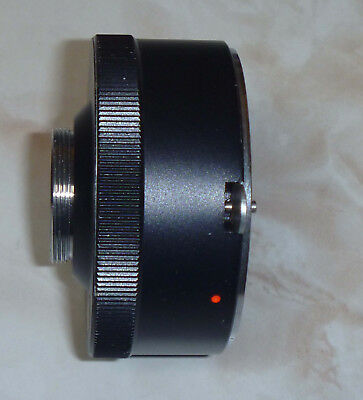 Lens Mount Adapter For Nikon F Lenses To Movie / Video C Mount Good Cond Non-Rx?