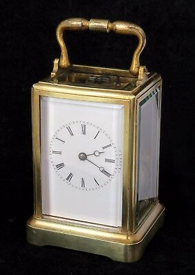 Rare French One-Piece Bell-Striking Carriage Clock, Henri Acier, Serviced, C1865