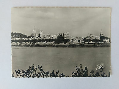 Avignon France B&W Postcard c1938 Popes Palace from the Rhone Banks