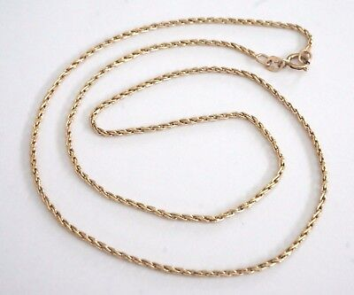 "14KT Yellow Solid Gold 18"" Wheat Chain 4.4 Grams Beautiful Quality Necklace"