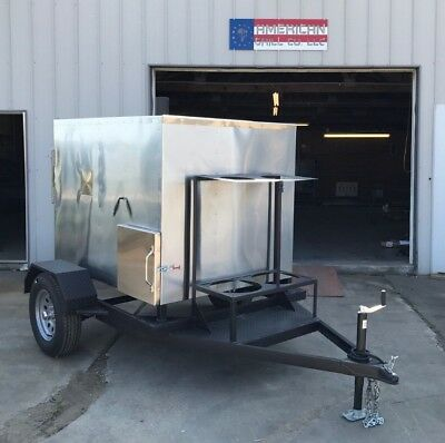 "Insulated 48"" x 48"" Rotisserie Smoker W/ Trailer - Call Before You Buy"