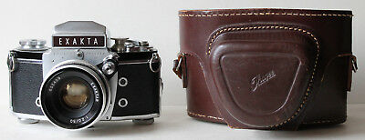 Ihagee Exakta Varex IIa/VX IIa Camera w/Exaktar 1:2.0/50mm Lens, Leather Case