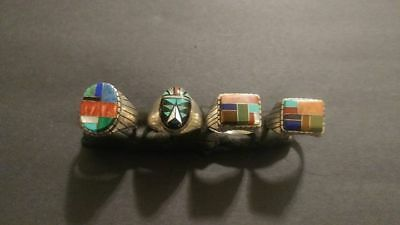 Zuni and Navajo Sterling Silver Rings