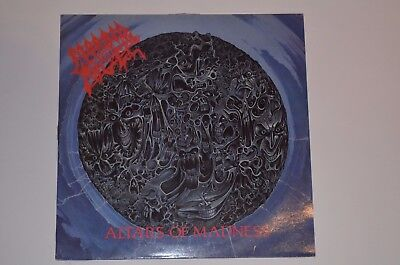 MORBID ANGEL Altars of Madness Death Metal LP 1. Press Earache 1989 Vinyl VG+