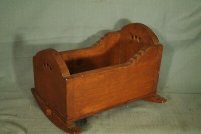 vintage solid wood small doll cradle & rocking horse toy cradle