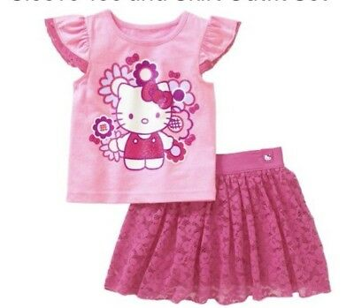 Hello Kitty Toddler Girls Outfit Size 2t