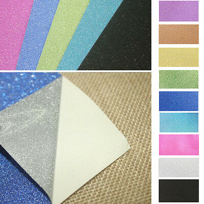 10PC Adhesive Glitter Scrapbooking Paper Vinyl Sticker Art Sheets DIY Craft PL