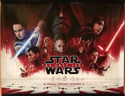 STAR WARS: THE LAST JEDI (MAIN) Original UK Cinema Quad Poster.