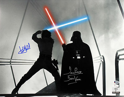 Mark Hamill & David Prowse Star Wars Authentic Signed 16X20 Photo BAS