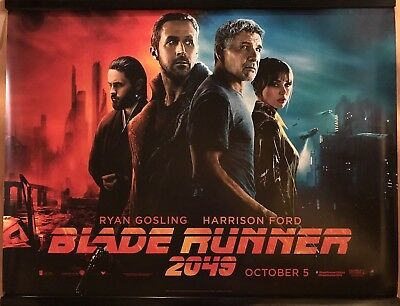 BLADE RUNNER 2049 (MAIN) Original UK Cinema Quad Poster.