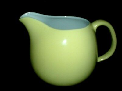 SWINNNERTONS NESTOR VELLUM Moonglow Yellow/Lemon Jug 5 inch high c1950