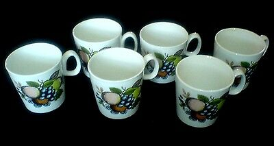 SWINNERTONS HARVEST FRUIT Coffee / Tea Cups x 6