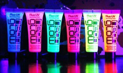 UV Glow Neon Face & Body Paint 10ml Fluorescent & Super Bright for Face Lips Eye