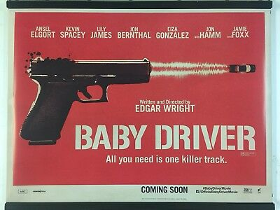 BABY DRIVER Original UK Cinema Quad Poster.