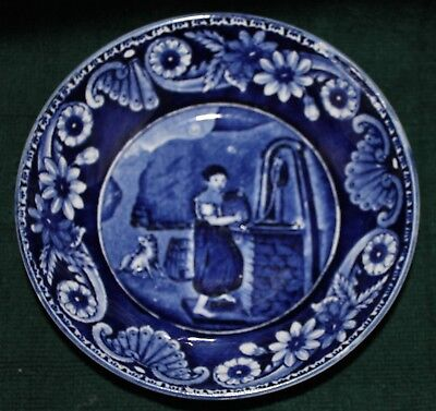 Antique  Blue & White James & Ralph Clews  Cup & Saucer (1818-1834)
