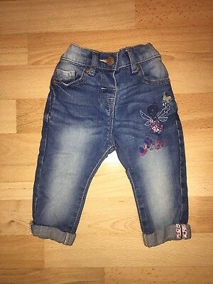 Lovely Baby Girls Next Denim Blue Jeans Size Age 3-6 Months