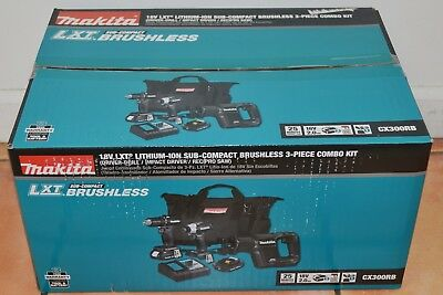Makita 18V LXT® Lithium-Ion Sub-Compact Combo Kit CX300RB New Factory Sealed