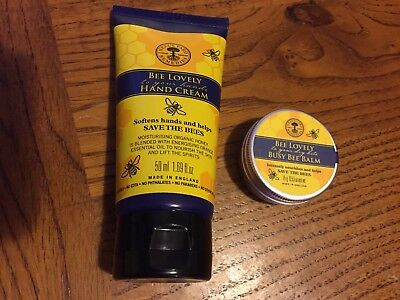 Neals Yard Remedies Bee Lovely Hand Cream 50ml & Balm For Dry Bits NEW