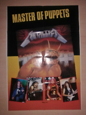 METALLICA , Master of Puppets , Metal Hammer Vintage Poster 80's , Judas Priest
