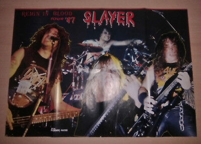 SLAYER , Reign in Blood Tour 87 , Metal Hammer Vintage poster 80's , IRON MAIDEN